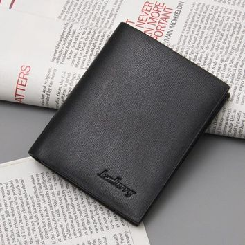 new Ultra thin men casual leather wallet