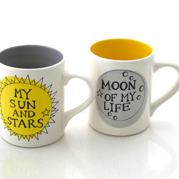 Game of Thrones mug set, Moon of my Life, My Sun and Stars, GOT gifts