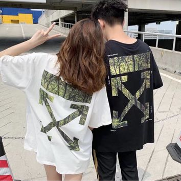 HCXX 19July 473 off white Japanese limited tropical rainforest t-shirt