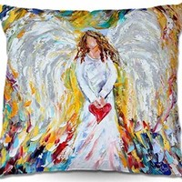 Decorative Woven Couch Throw Pillows from DiaNoche Designs by Karen Tarlton Unique Bedroom, Living Room and Bathroom Ideas Angel of My Heart