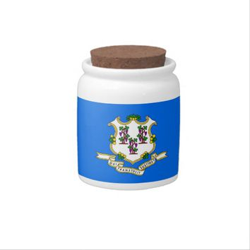 Connecticut State Flag Candy Jar