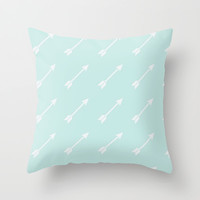blue arrows. Throw Pillow by Pink Berry Patterns