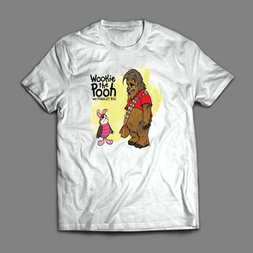 "STAR WARS WINNE THE POOH PARODY ""WOOKIE THE POOH AND PORGLET"" T-SHIRT"