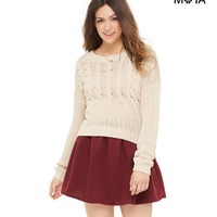 Aeropostale  Womens Solid Ottoman Skirt