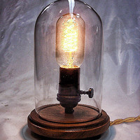 Edison Lamp - Desk Lamp - Steampunk Light - Industrial Lamp - Colonial Light - Table Lamp