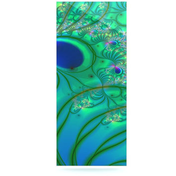 "Alison Coxon ""Fractal Turquoise"" Luxe Rectangle Panel"