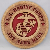 """Personalized Laser cut   """"U. S. Marine Corps """"  wall plaque.  An ideal customized gift for a military veteran! Great Fathers Day present!"""