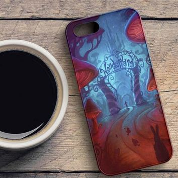 Alice In Wonderland Night iPhone SE Case