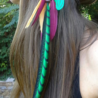 Rasta Feather HeadBand, rastafarian headband, Boho headband, Bohemian headband, Rastafarian feather headband, Reggae headband, 420 head band