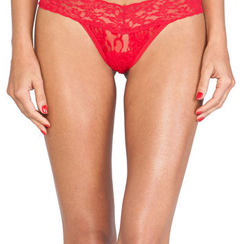 Hanky Panky Signature Petite Low Rise Thong in Red