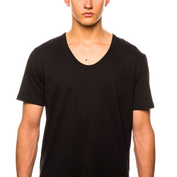 Shades of Grey Vue-Neck Black T-Shirt