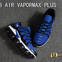Nike Air Vapormax Plus Tn Ultra Black White Blue VM Running Shoes - Best Deal Online