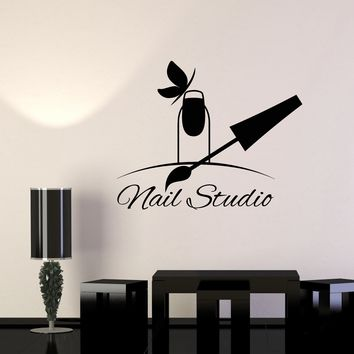 Vinyl Wall Decal Nail Studio Manicure Beauty Salon Signboard Pedicure Stickers Unique Gift (1498ig)