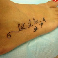 Tattoo Let it be