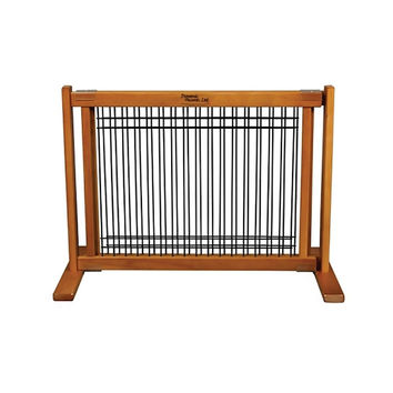 Dynamic Accents Indoor Wood and Wire Large Pet Gate, 20 Inch Tall - Artisan Bronze