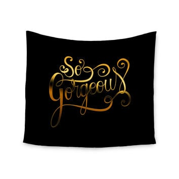 """Roberlan """"So Gorgeous"""" Gold Black Wall Tapestry"""