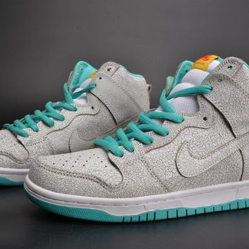 Nike Sb Dunk High Premium Flamingo White/hyper Jade-tour Yellow-white 313171-117 - Beauty Ticks