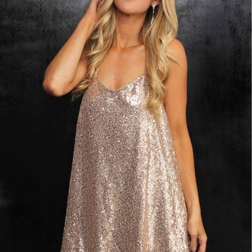 Sequin Party Dress Champagne