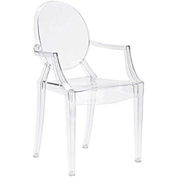 Poly and Bark Louis Ghost Style Arm Chair, Clear