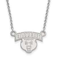 NCAA Sterling Silver Baylor U Small Pendant Necklace