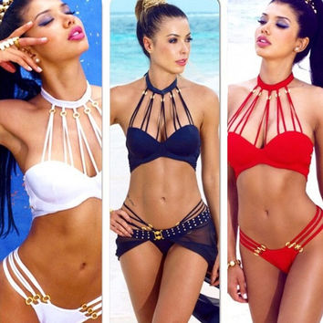 2015 Sexy Bikini Women Bandage Set Push-up Padded Bra Swimsuit Bathing Swimwear Hot = 1956441860