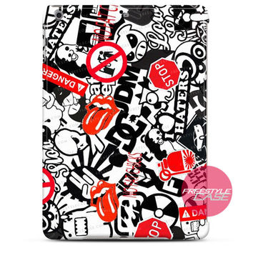 Racing Sticker Motor Car iPad Case 2, 3, 4, Air, Mini Cover