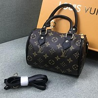 Louis Vuitton LV Women Fashion Leather Tote Satchel Shoulder Bag
