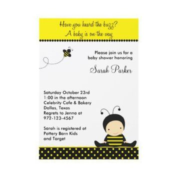 Baby Bee Shower Invitations from Zazzle.com