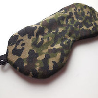 Sleep Mask Camo Leopard Spots Cotton Back Women Night Eyeshade Eye Camouflage