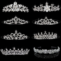 Free Shipping 8 Styles Elegant Wedding Bridal Tiara Rhinestone Crystal Crown Pageant Prom Hair Headband