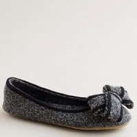 Women's shoes - slippers - Knit bow ballet slippers - J.Crew