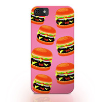 Hamburger pattern iphone case, 3d printed iphone 6 6 plus 5s 4/4s case, woman gift idea, girl gift idea, iphone cover