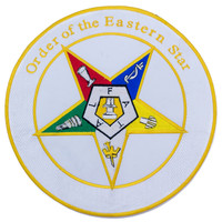 Order of the Eastern Star Center Iron on Patch for Biker Vest CP193