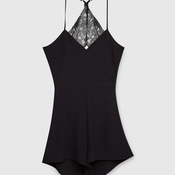 Jumpsuit with lace back - Dungarees & Jumpsuits - Clothing - Woman - PULL&BEAR United Kingdom