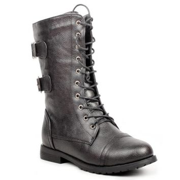 West Blvd Womens CAIRO COMBAT Boots L...