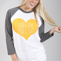 Greek Love Raglan - Delta Delta Delta