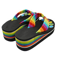 High quality Fashion Colorful Summer Fashion Slippers Sandals With High-Heeled Sandals four sizes