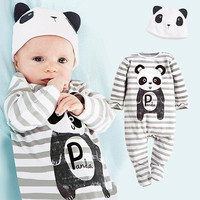 Infant Baby Girls Boys Animals Playsuit Romper+Hat Costume Outfits Set 6M-24M