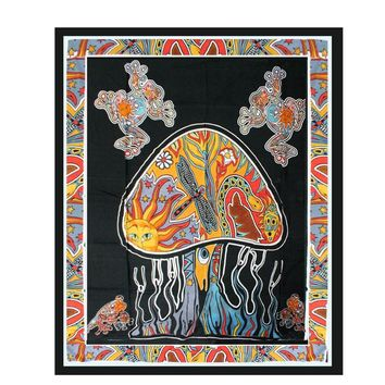 Mandala tapestry Mushroom Tapestry Indian Psychedelic Boho Tapestry Wall Hanging Carpet 145cmx200cm Soft Picnic Sheet Home Decor