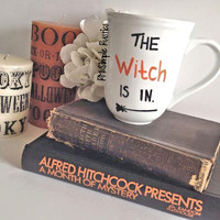 Halloween themed Witch Coffee Cup, Coffee Mug