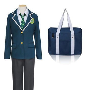 Japanese Anime Makoto Shinkai New Movie Your Name Cosplay Costumes Tachibana Taki School Costume With Bag