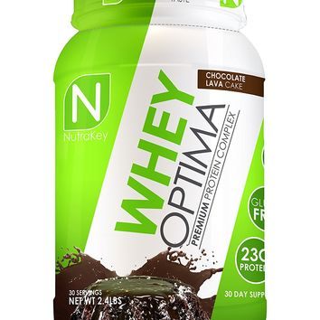 NutraKey Whey Optima Protein Powder, Chocolate Lave Cake, 2.4-Pound
