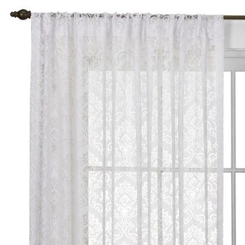 Beaumont Medallion Rod Pocket Curtain Panel