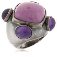 Sterling Silver Amethyst Couture Ring, 6, Stone & Novelty Rings