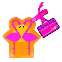 Johnathan Adler Luggage Tag: Flamingo