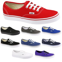 VANS AUTHENTIC CANVAS SKATE RED WHITE BLACK NAVY PURPLE BLUE TRAINERS SHOES SIZE