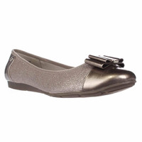 Anne Klein Aricia Bow Toe Ballet Flats - Light Gold Multi