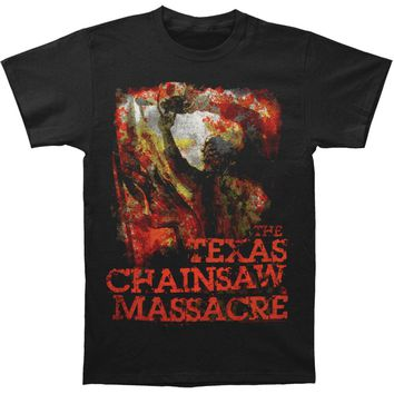 Texas Chainsaw Massacre Men's  French Poster T-shirt Black Rockabilia