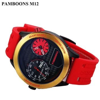 Men's Dual Dial Large Face Gold Sport's Watch