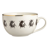 Porcelain mug - White/Ladybirds - Home All | H&M GB